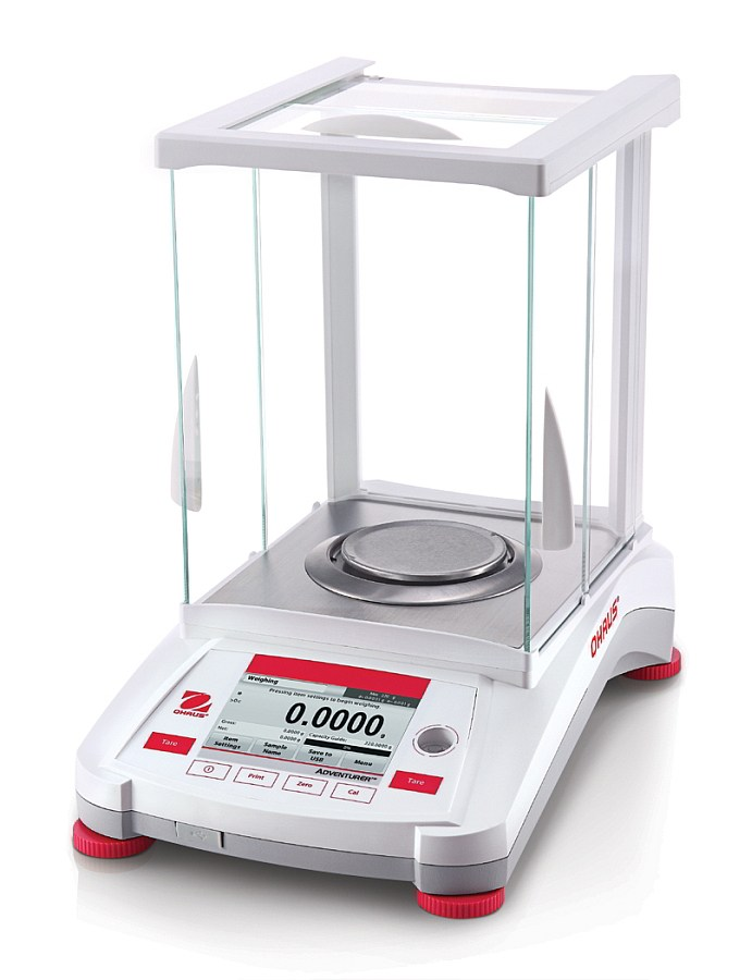 Ohaus Adventurer AX124 120g x 1mg Trade Approved Analytical Balance with Autocal