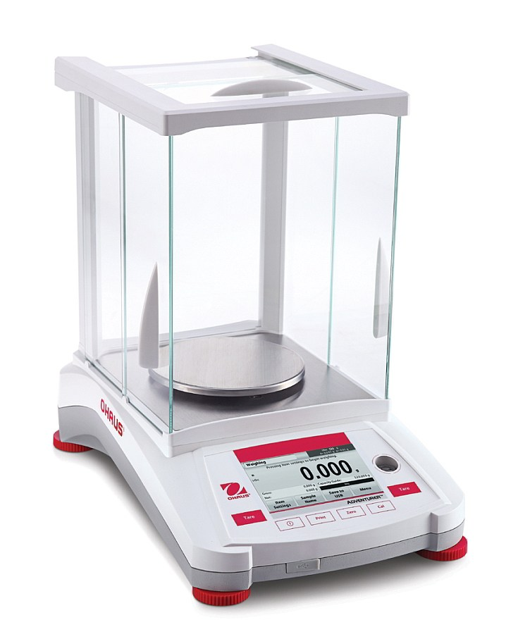 Ohaus Adventurer AX223 220g x 10mg Trade Approved Precision Balance With AutoCal And Draftshield