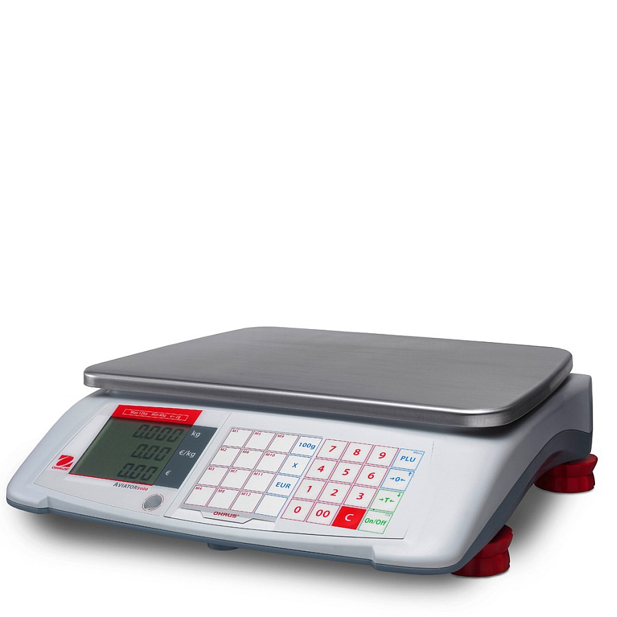 Ohaus Aviator 5000 A51P15L 15kg x 5g Price Computing Retail Scale