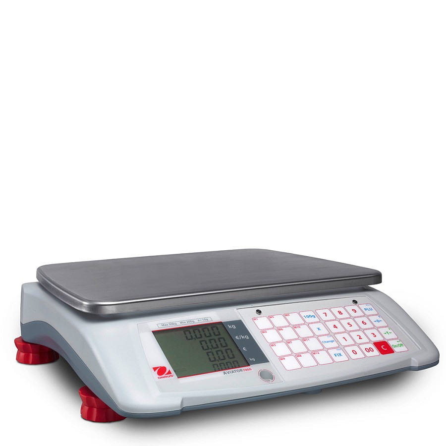 Ohaus Aviator 7000 A71P3N 3kg x 1g Price Computing Retail Scale