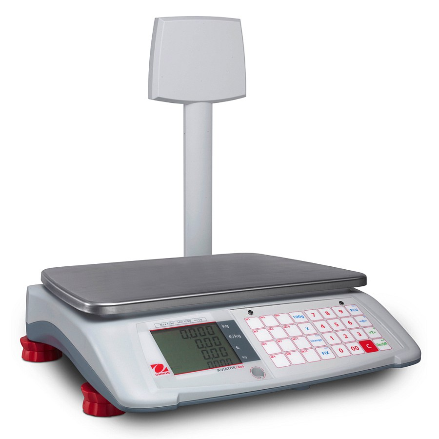 Ohaus Aviator 7000 A71P15TN 15kg x 5g Price Computing Retail Scale With Pole Display