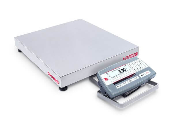 Ohaus Defender 5000 D52P30RTDR5 15kg x 5g/30kg x 10g 305mm x 355mm Dual Range Multi-Function Platform Scale (Low Profile)