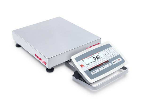 Ohaus Defender 5000 D52XW6WQDR5AU 3kg x 1g/6kg x 2g 305mm x 305mm Front Mount Dual Range Washdown Bench Scale