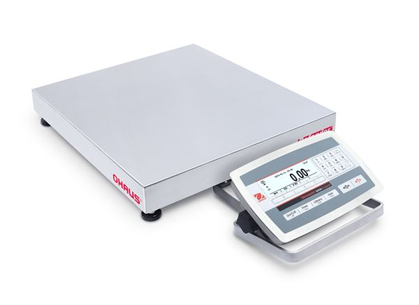 Ohaus Defender 5000 D52XW150WQDX7AU 60kg x 20g/150kg x 50g 500mm x 500mm Front Mount Dual Range Washdown Bench Scale