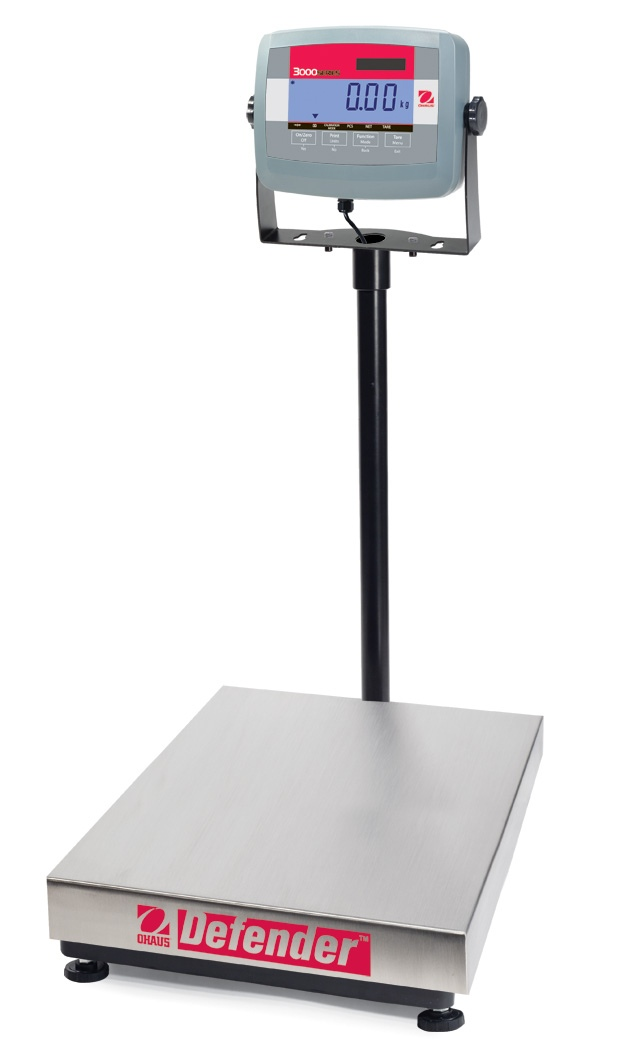 Ohaus Defender 3000 D31P300BX 300kg x 100g Extra Large Base With T31P Indicator Platform Scale
