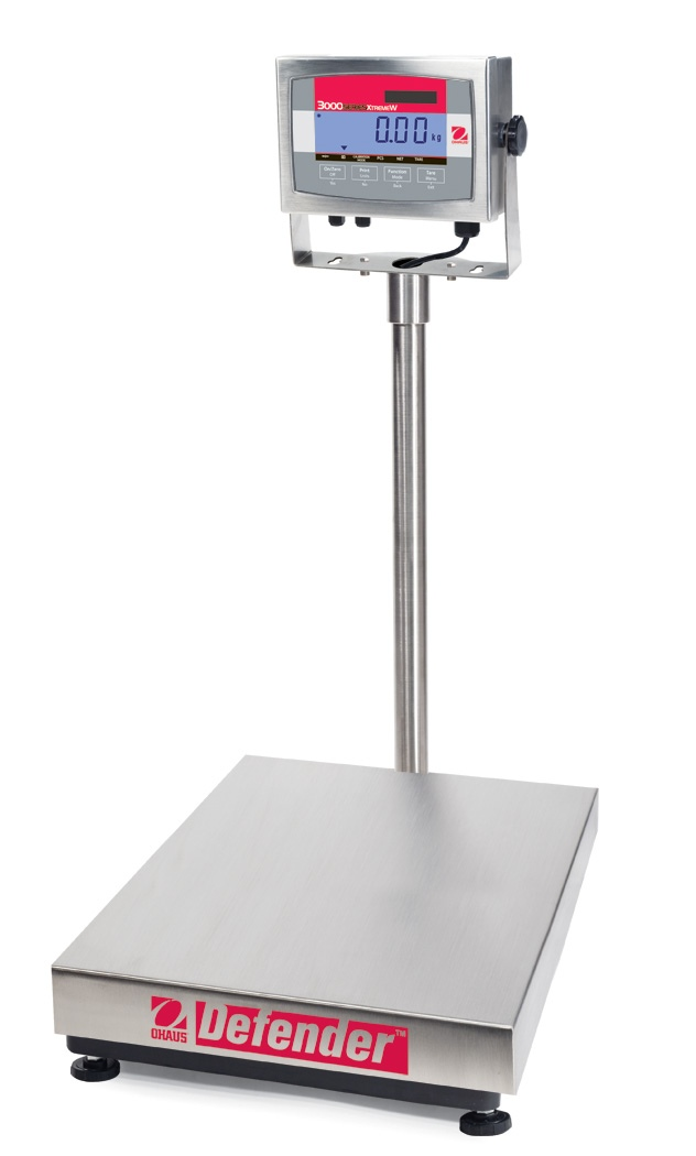 Ohaus Defender 3000 Xtreme D32XW300VX 300kg x 100g Extra Large Base With T32XW Indicator Platform Scale