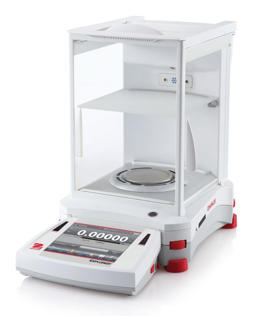 Ohaus Explorer EX225D/AD 120g x 0.01mg/220g x 0.1mg Dual Range Semi-Micro Analytical Balance with Autocal and Autodoor