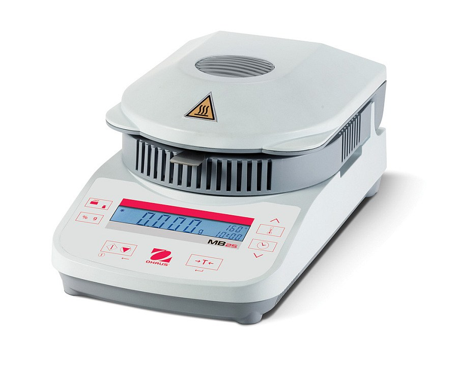 Ohaus MB25 110g x 0.005g/0.05 percent Moisture Analyzer