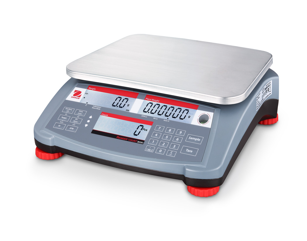 Ohaus Ranger Count 3000 RC31P3 3000g x 0.1g Compact Counting Scale