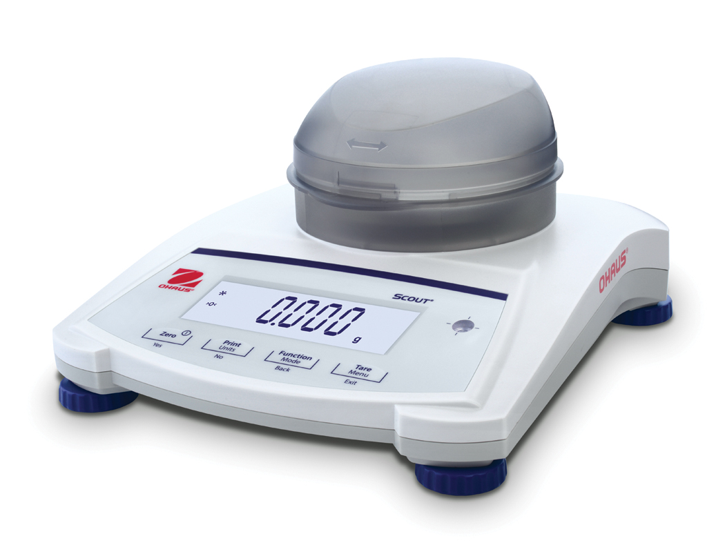 Ohaus Scout Jewellery SJX323 64g x 0.001g Portable Balance With Draftshield & Internal Calibration