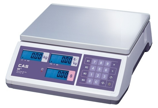 CAS ER-Junior 15kg x 5g/30kg x 10g Dual Range Price Computing Retail Scale