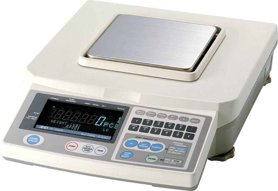 A&D FC-500Si 500g  (0.05mg minimum piece weight) Counting Scale