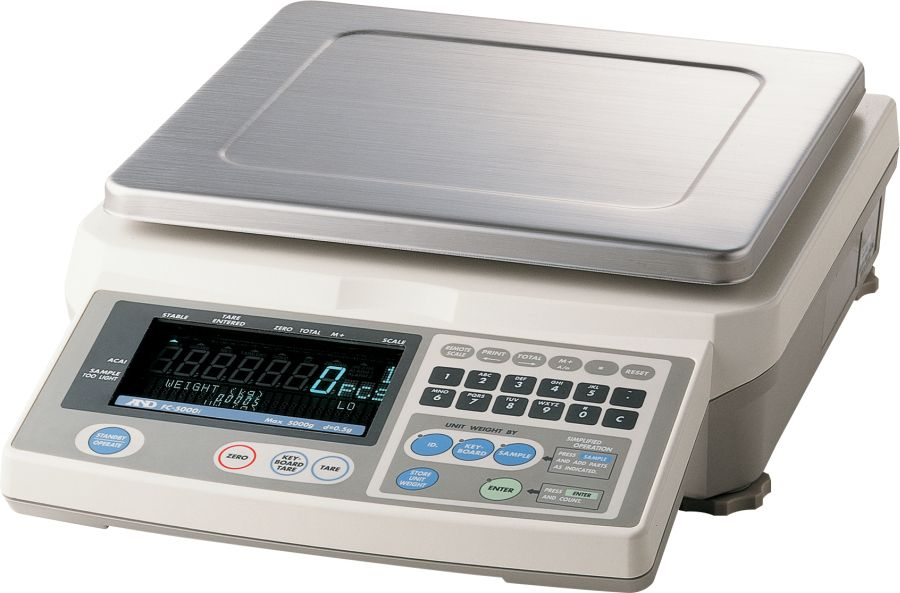 A&D FC-5000i 5000g (5mg minimum piece weight) Counting Scale