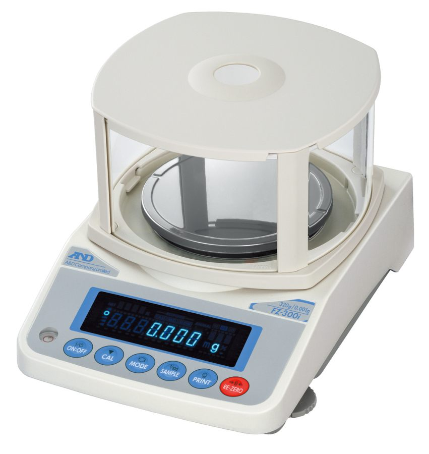 A&D FZ-300i WP 320g x 0.001g/0.01g Precision Balance with Breeze Break