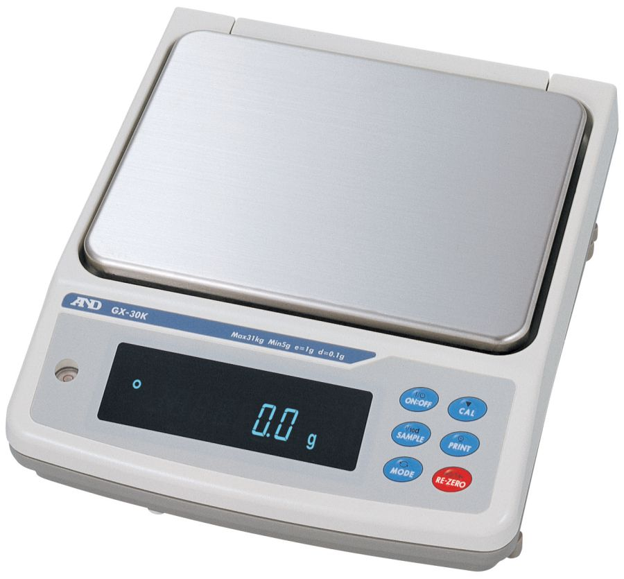 A&D GX-30K 30000g x 0.1g/1g High Capacity Balance With Internal Calibration