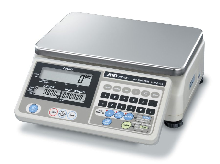 A&D HC-30Ki 30kg (50mg minimum piece weight) Counting Scale