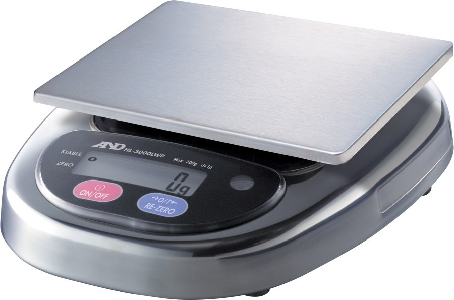 A&D HL-3000LWP 3000g x 1g Digital Scale With Large Platform