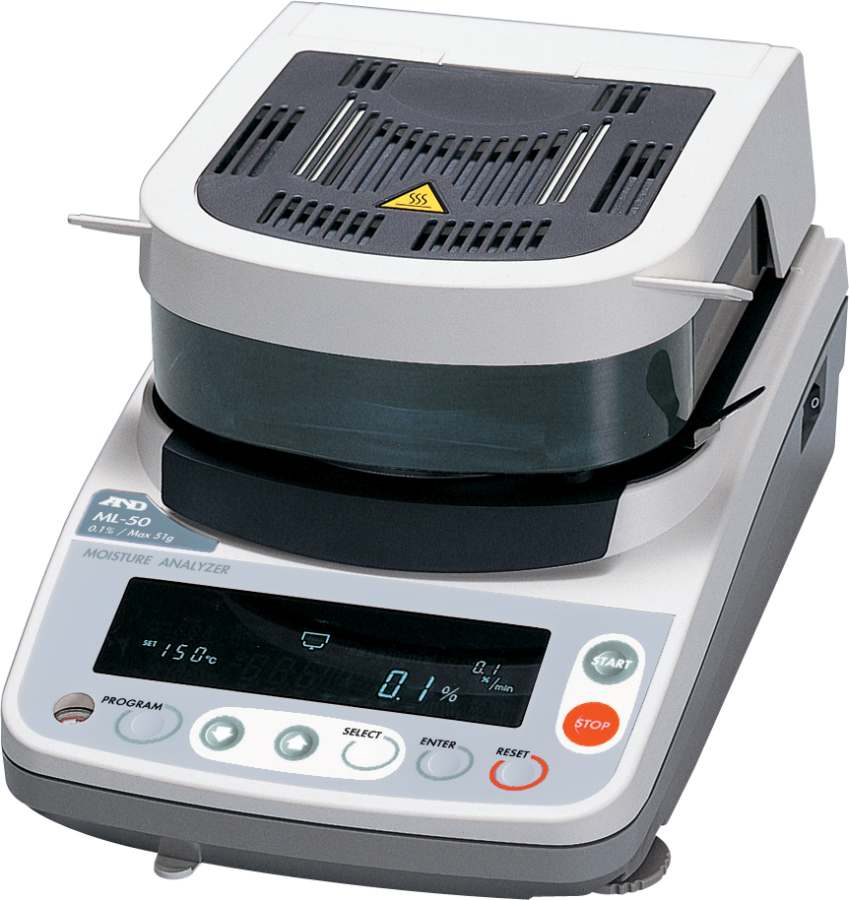 A&D ML-50 50g x 0.005g/0.1 percent Moisture Analyser