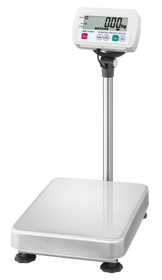 A&D SC-60KAL 60kg x 20g Platform Scale With Large Base
