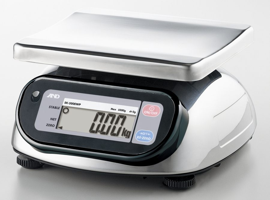 A&D SK-5001WP 5000g x 1g Bench Scale