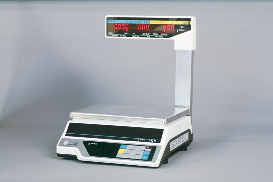 Ishida INS-100 15kg x 5g Price Computing Scale With Pole