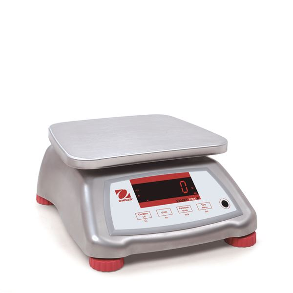 Ohaus Valor 2000 V22XWE30T 30kg x 5g IPX8 Stainless Steel Washdown Compact Bench Scale