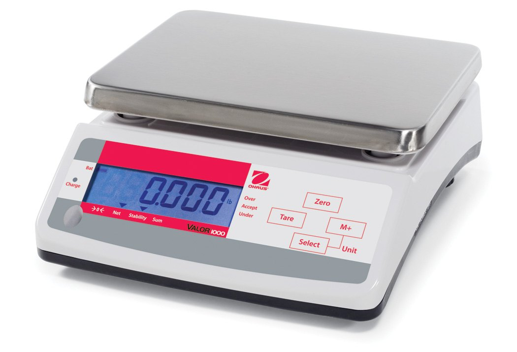 Ohaus Valor 1000 V11P30T 30kg x 5g Dual Display Compact Food Scale