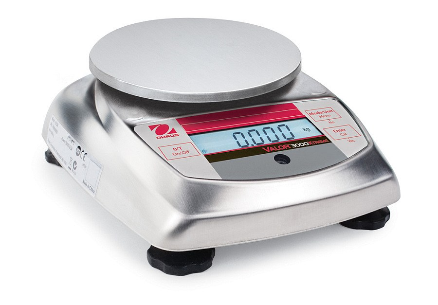 Ohaus Valor 3000 Xtreme V31XH202 200g x 0.01g Compact Food Scale