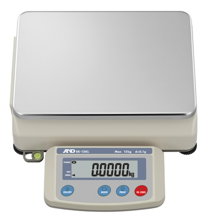A&D EK-15KL 15kg x 0.1g Industrial Precision Bench Scale