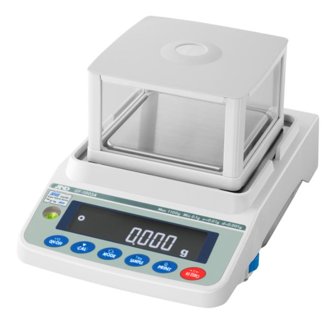 A&D GF-1003A 1100g x 0.001g Multi-Functional Precision Balance With Breeze Break