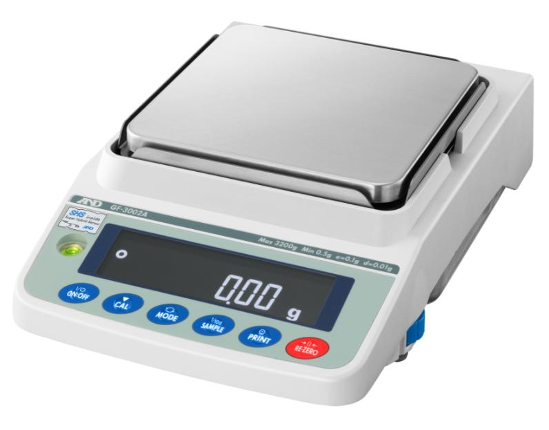 A&D GX-2002A 2200g x 0.01g Multi-Functional Precision Balance With Internal Calibration