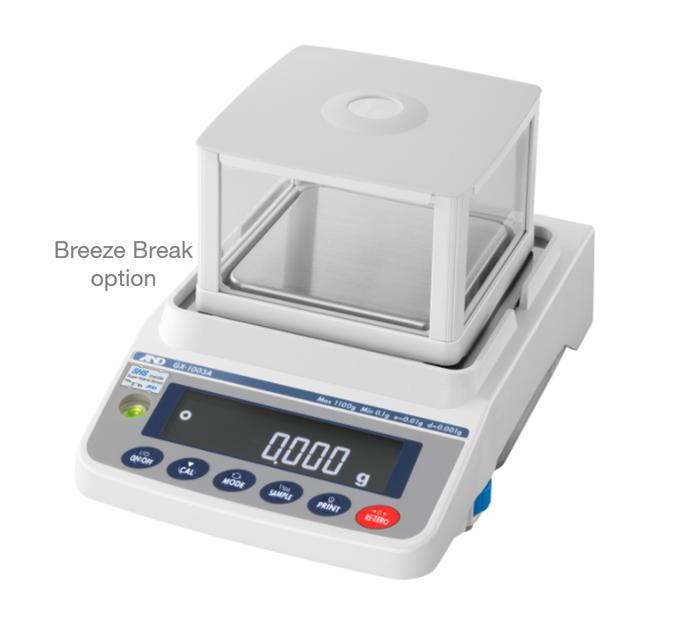 A&D GX-203A 220g x 0.001g Multi-Functional Precision Balance With Internal Calibration & Breeze Break