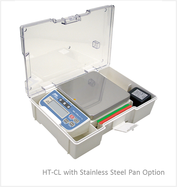 A&D HT-500CL 510g x 0.1g Compact Checkweighing Scale With Travel Case