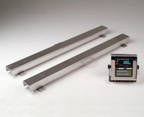 A&D Stainless Steel Weighbeams 2000kg x 1kg 1200mm x 100mm x 80mm + AD4407 IP65 Indicator (Pre-Calibrated & Verified)